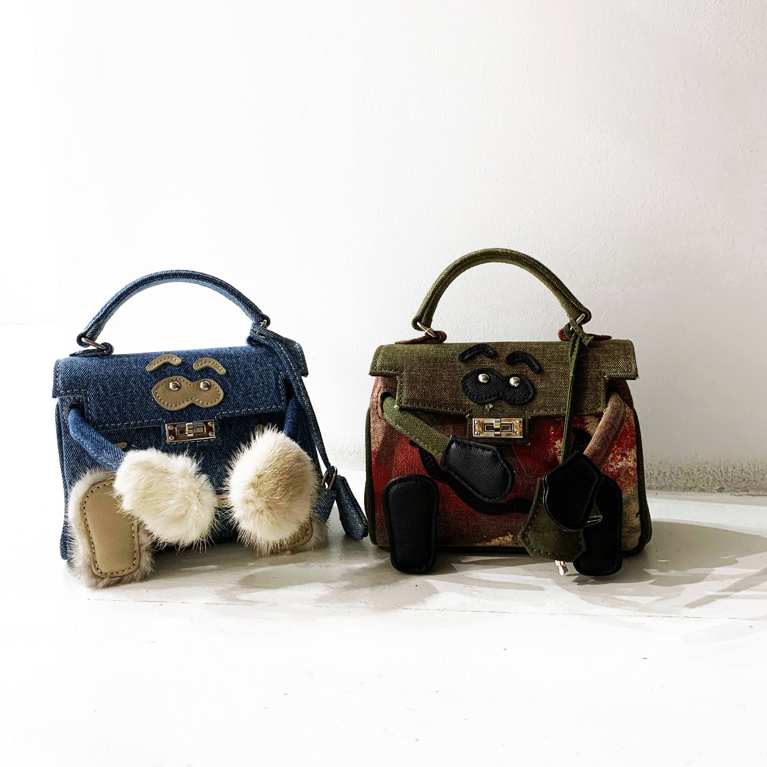 MONSTER BAG(KHAKI&BLUE) / READYMADE