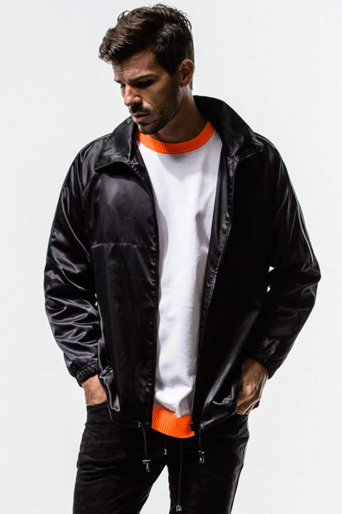 Satin Over Track Jacket
