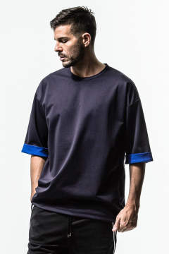 Double LOOSE ROLL UP TEE
